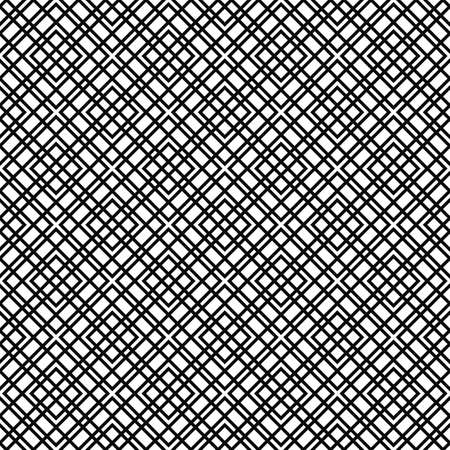 grid pattern: Repeating black and white abstract grid pattern design Illustration