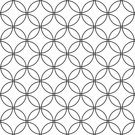 Répétez monochrome vecteur cercle design pattern fond