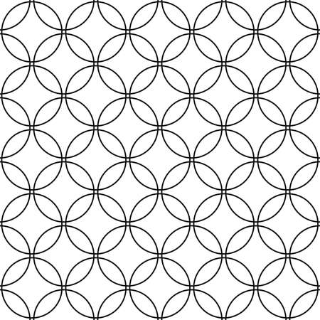 monochromatic: Repeat monochromatic vector circle pattern design background