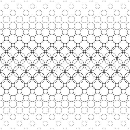 Seamless black and white abstract circle pattern design Illustration