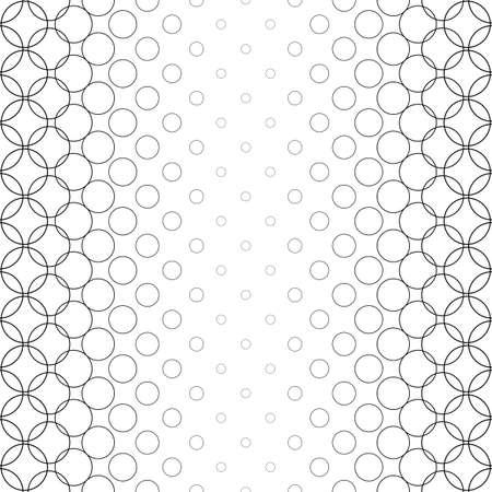 bleb: Seamless black white vector circle pattern design background Illustration
