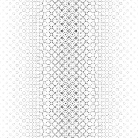 Herhalende monochrome vector cirkel patroon ontwerp achtergrond Stock Illustratie