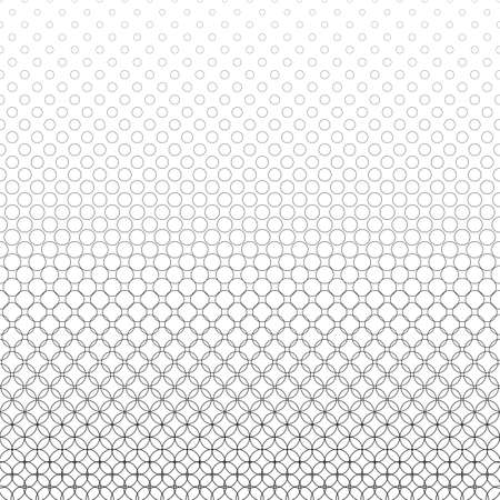 bleb: Repeat black and white abstract circle pattern design