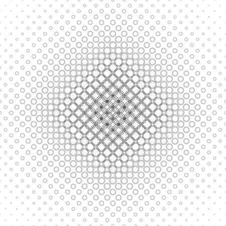 bleb: Monochrome abstract circle pattern design background vector Illustration