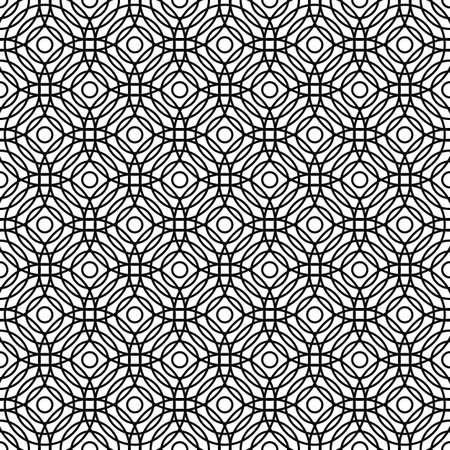 grid pattern: Seamless black and white abstract grid pattern design background