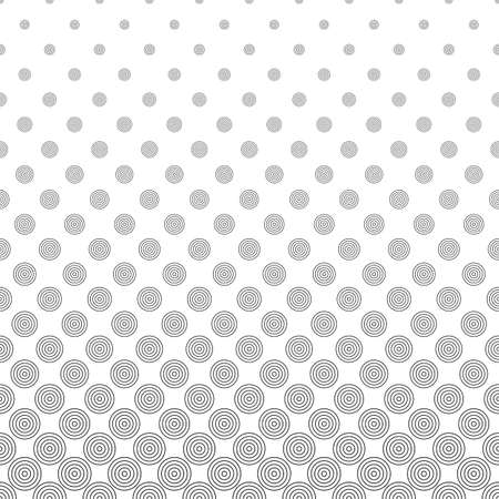 bleb: Seamless monochromatic abstract vector circle pattern background Illustration