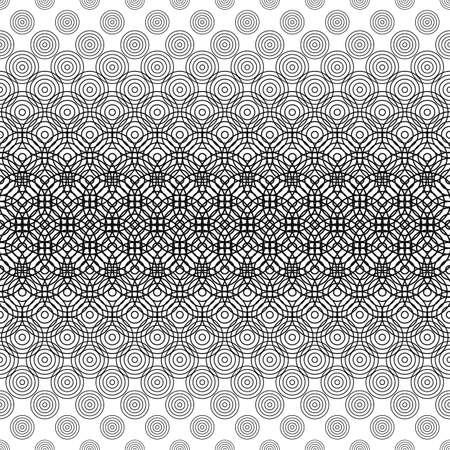 bleb: Seamless black and white circle grid pattern background
