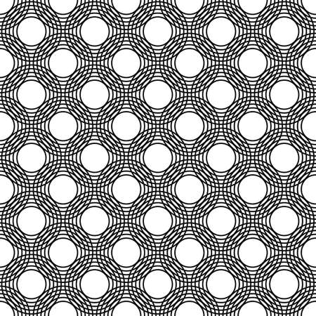 trellis: Seamless black and white abstract circle pattern design background