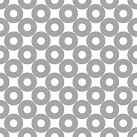 Repeating black and white circle pattern design background Illustration