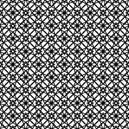 grid pattern: Seamless black and white vector grid pattern background