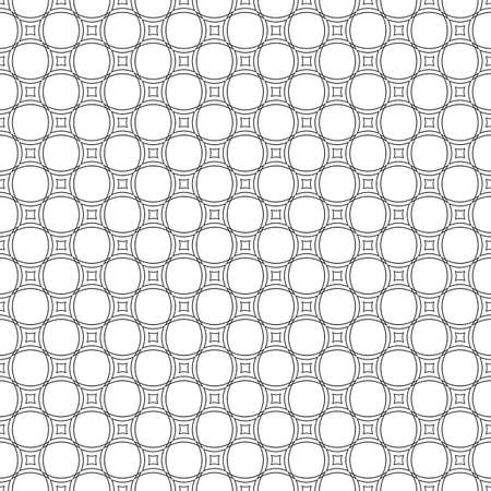 curved line: Seamless black and white abstract curved line pattern background