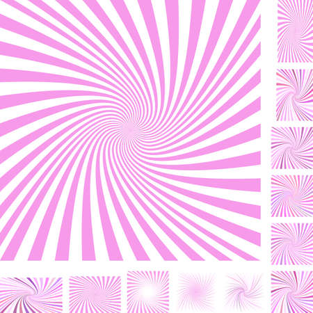 turmoil: Pink and white vector spiral design background set. Different color, gradient, screen, paper size versions.