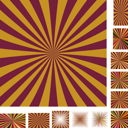 hypnose: Brown vector ray burst design background set. Different color, gradient, screen, paper size versions.
