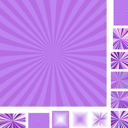 hypnose: Purple vector ray burst design background set. Different color, gradient, screen, paper size versions.