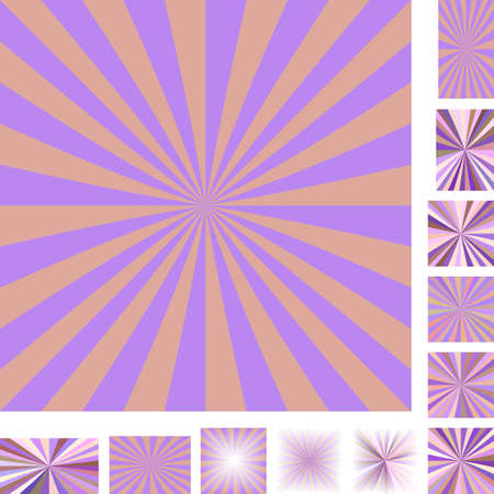 hypnose: Retro vector ray burst design background set. Different color, gradient, screen, paper size versions.