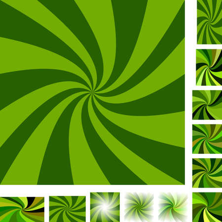 hypnose: Green vector spiral design background set. Different color, gradient, screen, paper size versions. Illustration