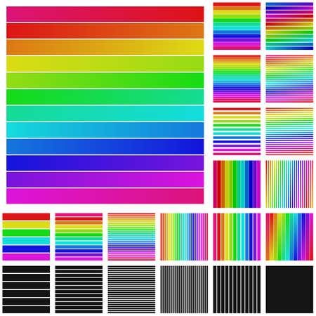 square logo: Set of rainbow square logo icon designs Illustration