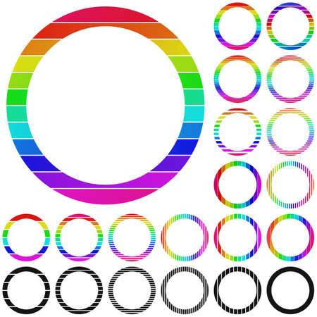 rainbow circle: Set of rainbow circle logo icon designs