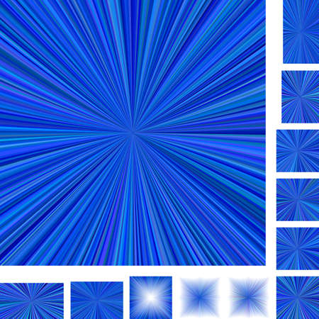 light backround: Blue vector ray burst design background set. Different color, gradient, screen, paper size versions.