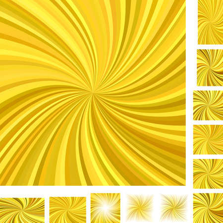 turmoil: Golden vector spiral background set. Different color, screen, paper size versions.