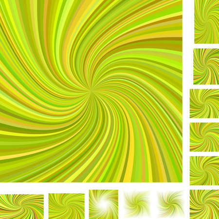 hypnose: Vector spiral design background set. Different color, paper size versions.