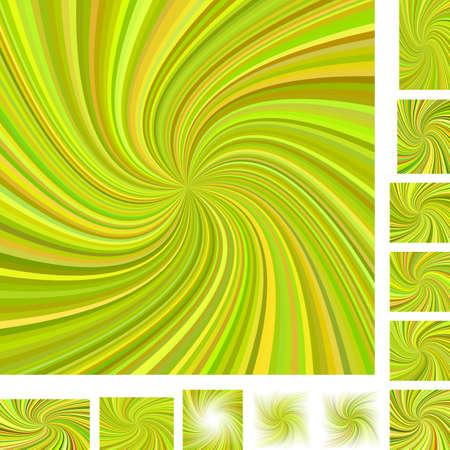hypnose: Vector spiral design background set. Different color, paper size versions.