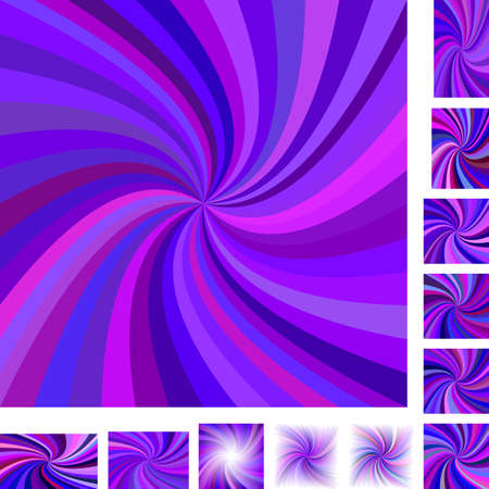 hypnose: Purple vector spiral design background set. Different color, gradient, screen, paper size versions.