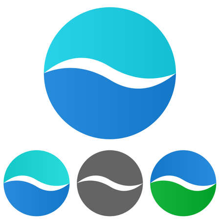 shore: Sea logo vector. Sea icon symbol design template set for wave - water - ocean - lake - beach - travel - holiday - sailing - shore - river - cruise concepts. Illustration