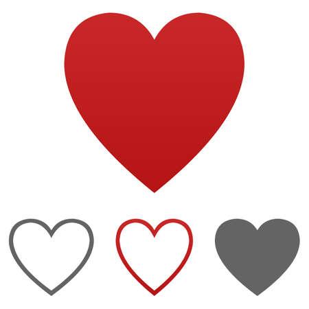Cuore vettore icona. Cuore logo modello di progettazione set per la salute - medico - amore - salute - matrimonio - cardio - come - antipatia - passione - emozione - concetti di felicità - romantico.