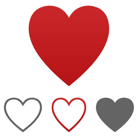 heart icon: Heart icon vector. Heart logo design template set for health - medical - love - health - wedding - cardio - like - dislike - passion - emotion - romantic - happiness concepts.