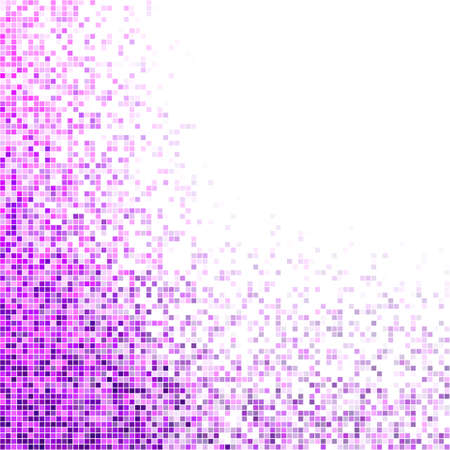 purple abstract background: Purple and magenta square mosaic vector background design