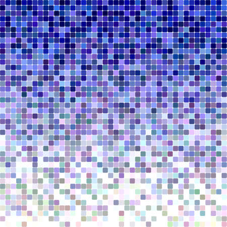 Blue color square mosaic vector background design