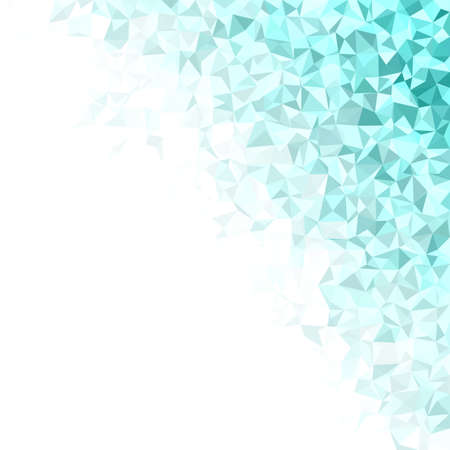 irrégulière triangle conception de mosaïque vecteur de fond Cyan Vecteurs