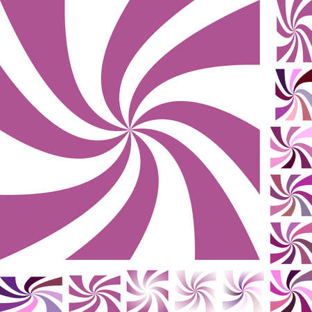 Mauve and white vector spiral design background set. Different color, gradient, screen, paper size versions.