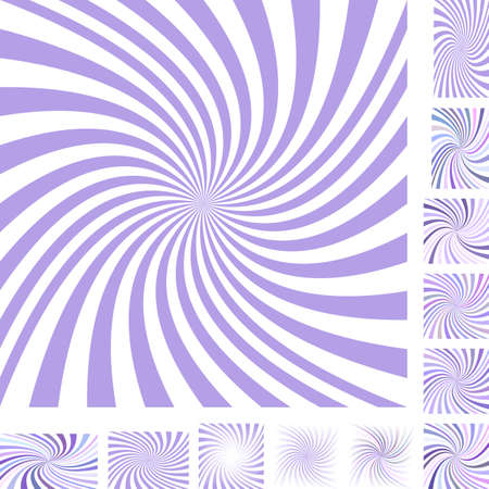 hypnose: Light purple and white vector spiral design background set. Different color, gradient, screen, paper size versions. Illustration