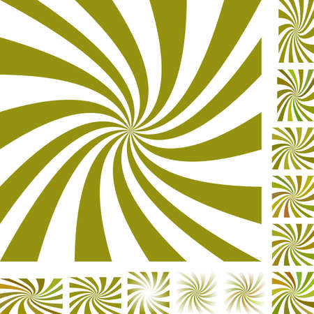 turmoil: Olive and white vector spiral design background set. Different color, gradient, screen, paper size versions.