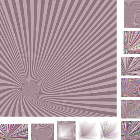 turmoil: Retro vector spiral design background set. Different color, gradient, screen, paper size versions Stock Photo