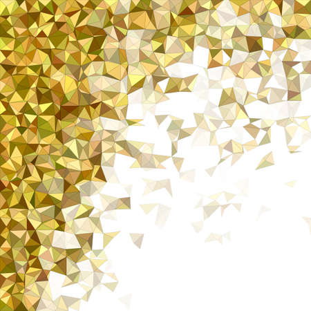 diffuse: Yellow and brown diffuse triangle mosaic vector background design