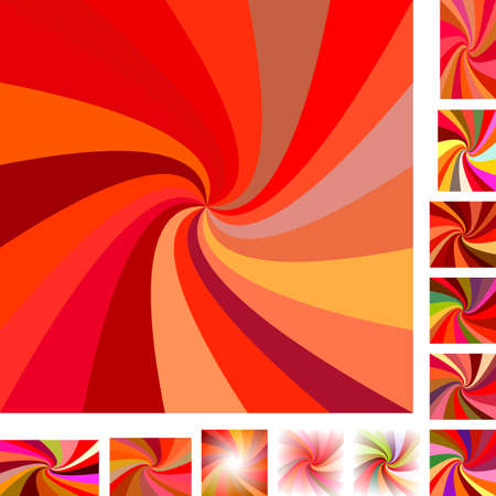 hypnose: Red  vector spiral design background set. Different color, gradient, screen, paper size versions.