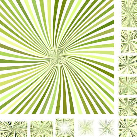 hypnose: Green vector burst design background set. Different color, gradient, screen, paper size versions.