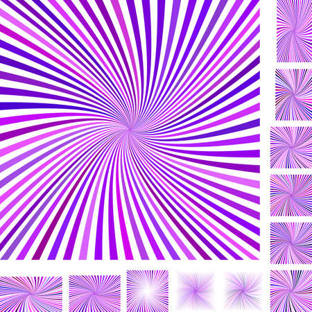 hypnose: Purple and white vector spiral design background set. Different color, gradient, screen, paper size versions. Illustration