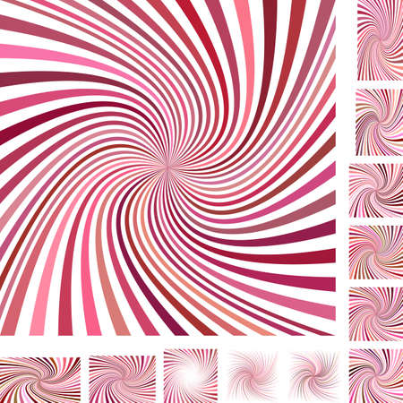 hypnose: Red and white vector spiral design background set. Different color, gradient, screen, paper size versions.