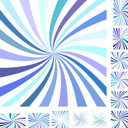 hypnose: Colorful vector spiral design background set. Different color, gradient, screen, paper size versions.