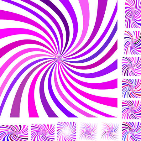 light backround: Pink and purple vector spiral design background set. Different color, gradient, screen, paper size versions. Illustration