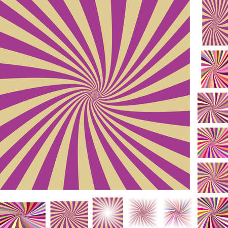 hypnose: Retro vector spiral design background set. Different color, gradient, screen, paper size versions.