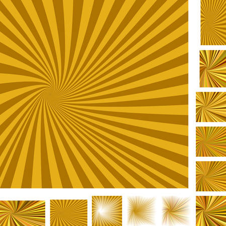 hypnose: Brown vector spiral design background set. Different color, gradient, screen, paper size versions.