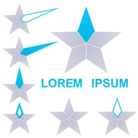 star icon: Star  vector. Star icon symbol design template set. Illustration