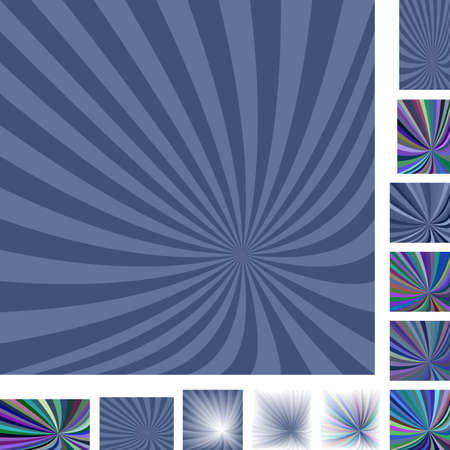 hypnose: Retro grey vector ray burst design background set. Different color, gradient, screen, paper size versions