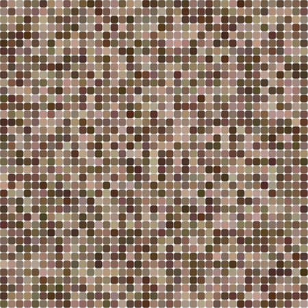 Brown colorul square mosaic vector background design