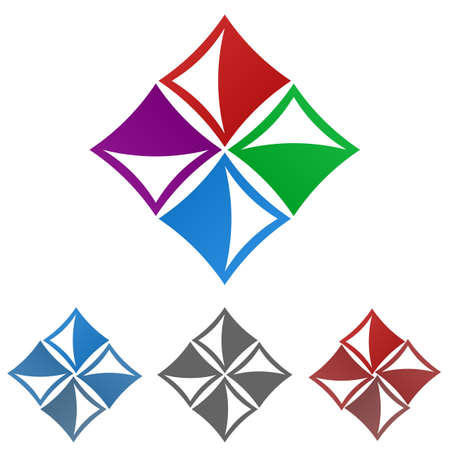 square logo: Square logo vector. Square icon symbol design template set.